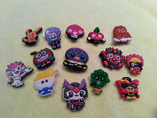 MOSHI MONSTERS shoe charms/cake toppers!! huge lot of 14!! FAST USA SHIPPING!