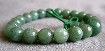Buddha-Armband aus Grünem Aventurin-Quarz 17 cm  - Power-Beads.