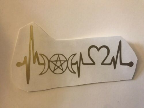 Pick Color//Size Witch Heartbeat Rate Vinyl Sticker Decal Tumbler Laptop Car Cup