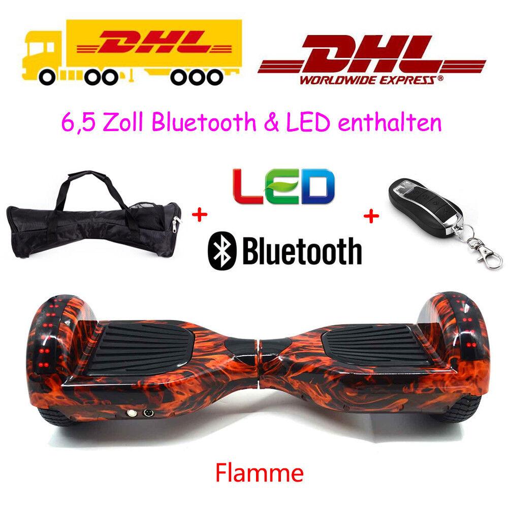 6.5/8/10 Zoll Zoll Zoll E-Balance Elektro Scooter Blautooth Skateboard Elektroroller LED 13795c