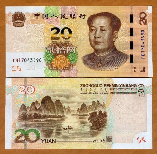UNC /> Mao Tse-tung P-New China 20 Yuan Improved security 2019