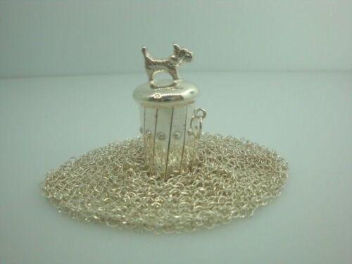 Vintage? Sterling Silver Chain Mesh Purse Pendant(