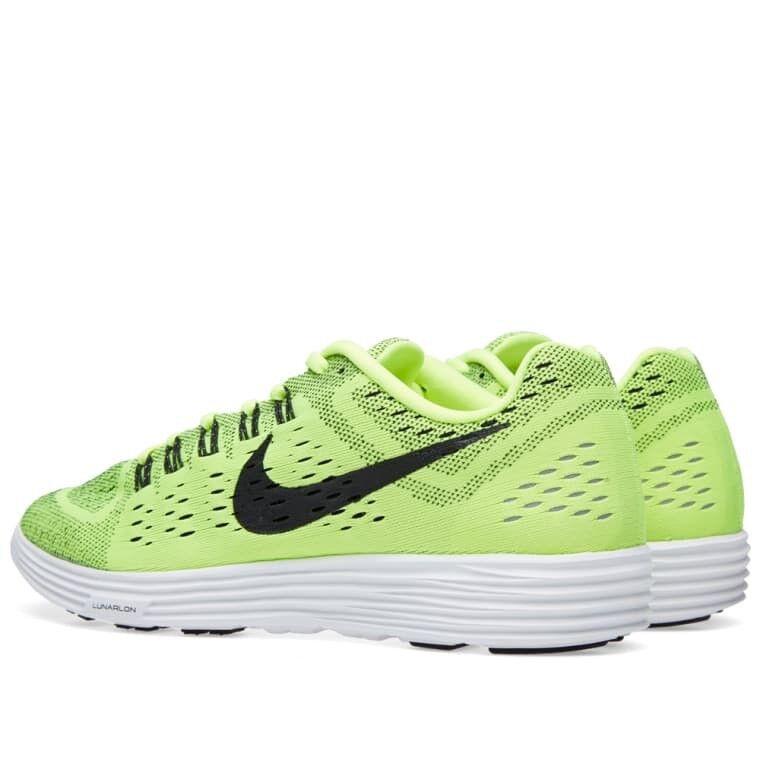 Nike Lunartempo Volt Black White Trainers Men 8.5 US 705461-700 Running Green