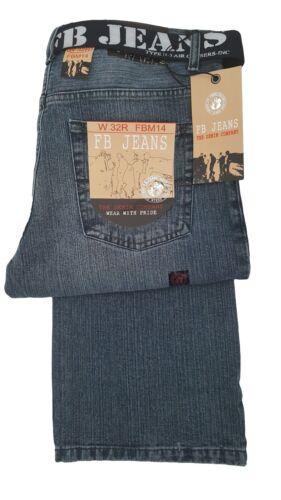 Uomo 14 Vestibilità Fbm Comoda Medio Stonewash Fashion Jeans Blu Svasati ZZFqr