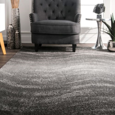 Modern Rugs Abstract Wave Pattern Contemporary Floor Carpet Mat for Bedroom