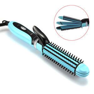 3in1 Hair Straightener Curling Iron Curler Crimper Ceramic
