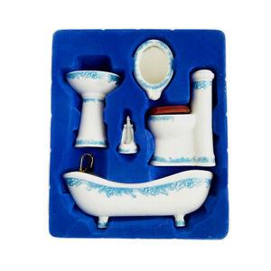 1//12 Dollhouse Miniature Mini Metal Bath Basin Bathtub Model Toys Accessor kz