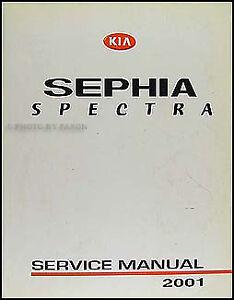 2001 kia sephia and spectra repair shop manual original ebay rh ebay com kia sephia 2001 repair manual free 2001 Kia Sephia Engine