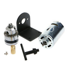 "New Hand Drill DIY Lathe Press 555 Motor w/ 1/8"" Chuck+ Mounting Bracket 12-36V"