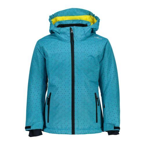 CMP Ski Jacket Snowboard Jacket Girl Jacket Snaps Hood Dark Blue Waterproof Twill
