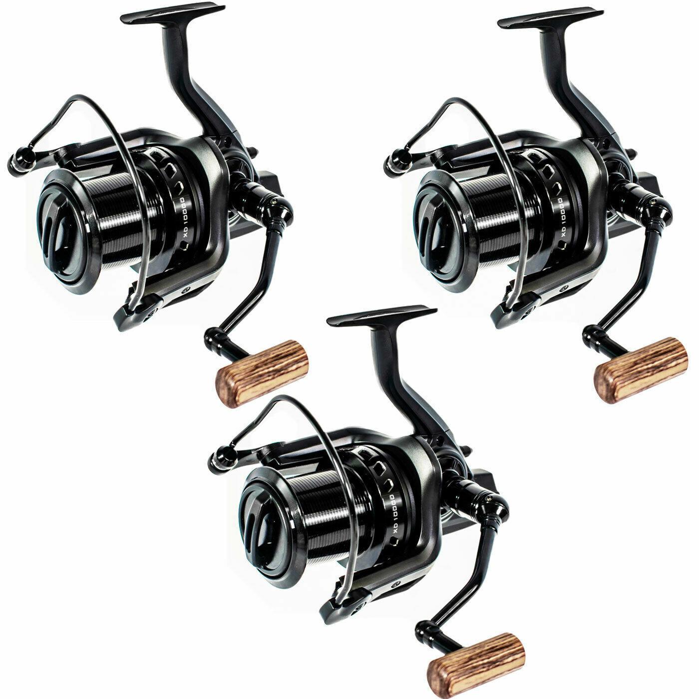 3 x Sonik Tournos XD 10000 Big Pit Carp Fishing Reel