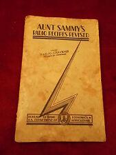 """RARE OLD VTG ANTIQUE COOKBOOK """"AUNT SAMMY'S RADIO RECIPES REVISED"""" CONGRESSIONAL"""