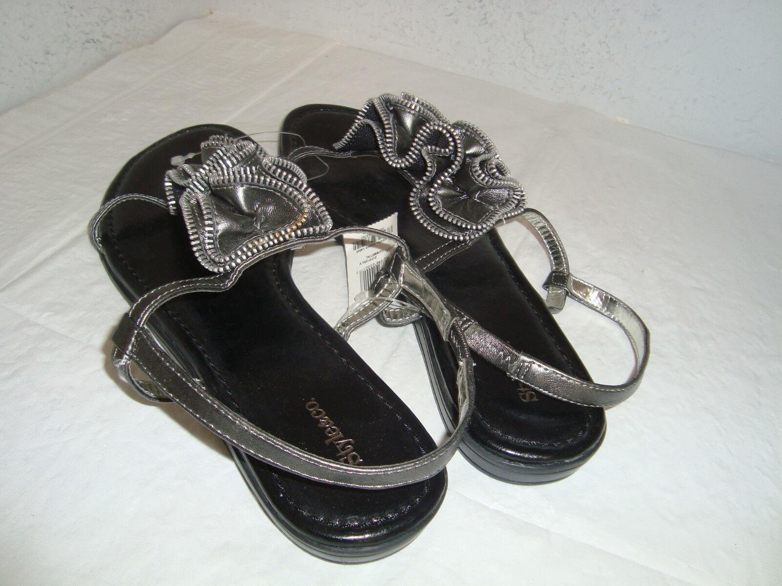 NEU Style & Co Damenschuhe Metallic Silver Gray Sandales Schuhes 8 Medium