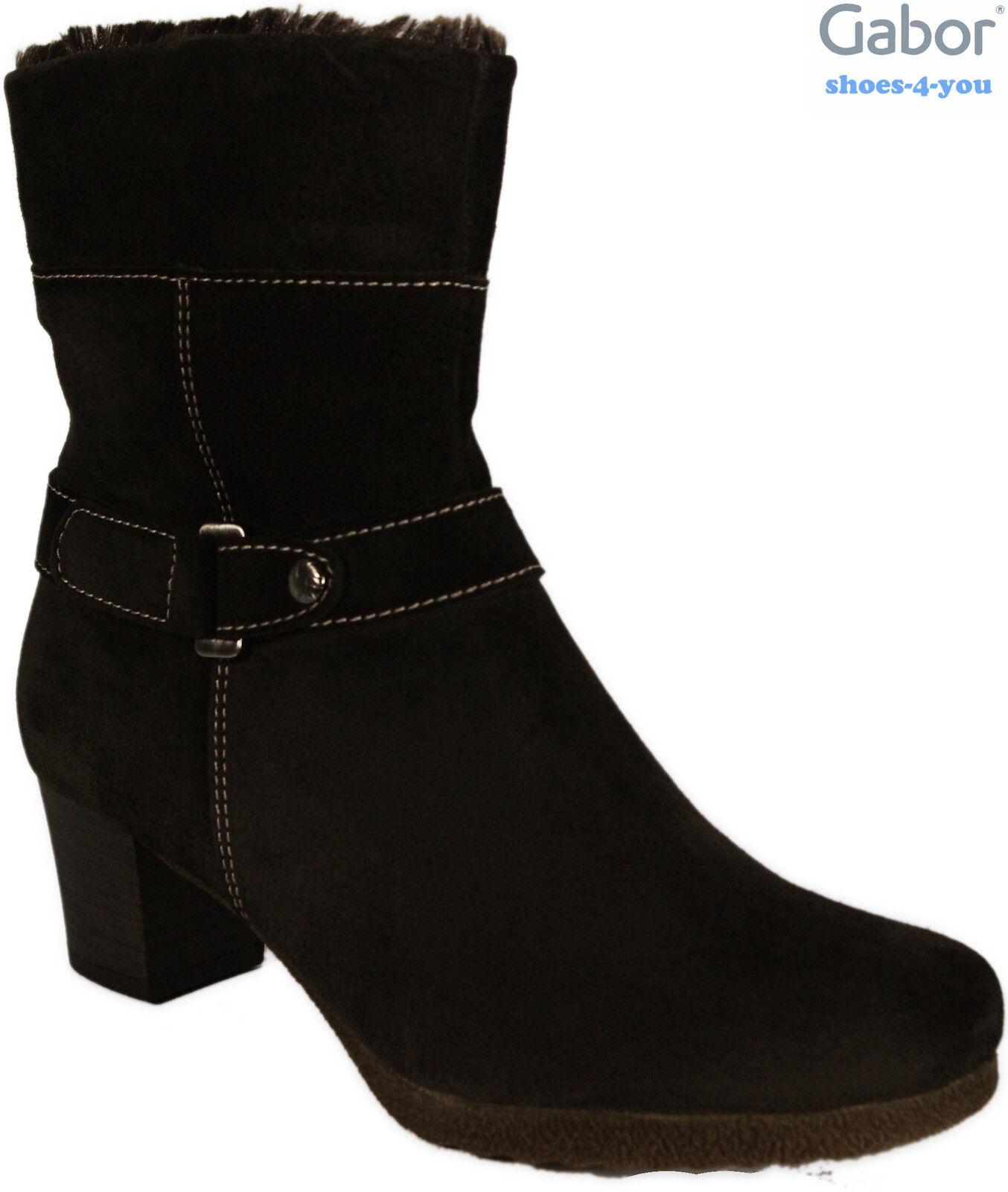 Gabor City botas de cuero genuino terciopelo marrón oscuro alimento caliente nuevo krempelschaft