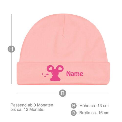 viele Farben mit Namen Bio Herzchen Maus Babymützchen Baby Mütze
