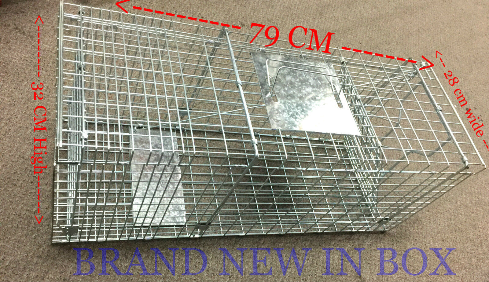Extra Grande Jaula Trampa Humana Possum captura animales vivos Gato Conejo Ave Cebo Rata