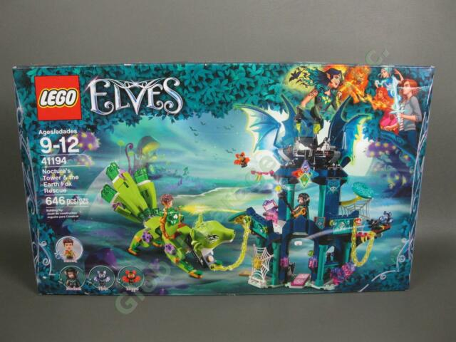 NEW 2018 LEGO Elves Noctura's Tower & The Earth Fox Rescue 41194 Farran Sealed