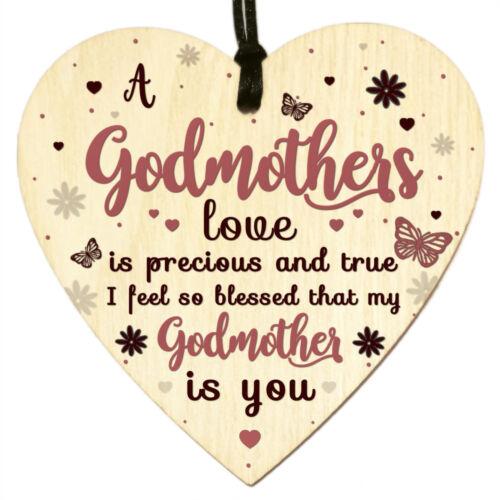 Signo de placa de Madera de Corazón Amor hadas día de las madres Bautizo Cumpleaños Regalos