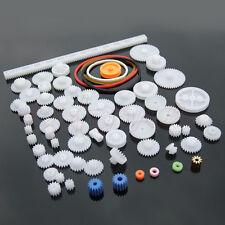 60pcs New Type Plastic Shaft Single Double Reduction Crown Worm Gears DIY Robot