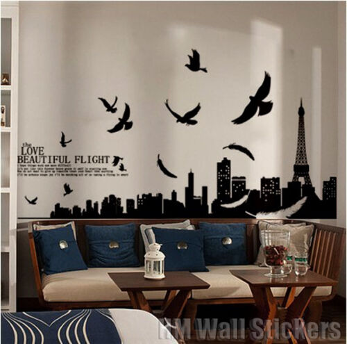 PARIS Wall Art Wall Decals will bring the French elegance into your interior
