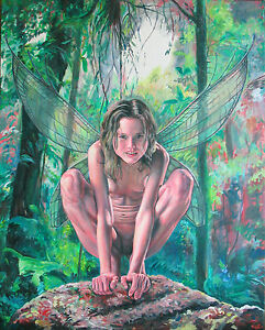"""""""Lilith Fairy Queen"""" Original Painting Acrylic Canvas ..."""