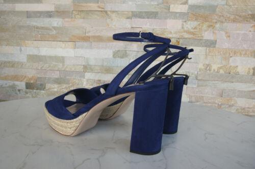 Autrefois Chaussures 41 Bleue Miu Neuf Marine Sandales Chanvre Plateformes 8atPwx