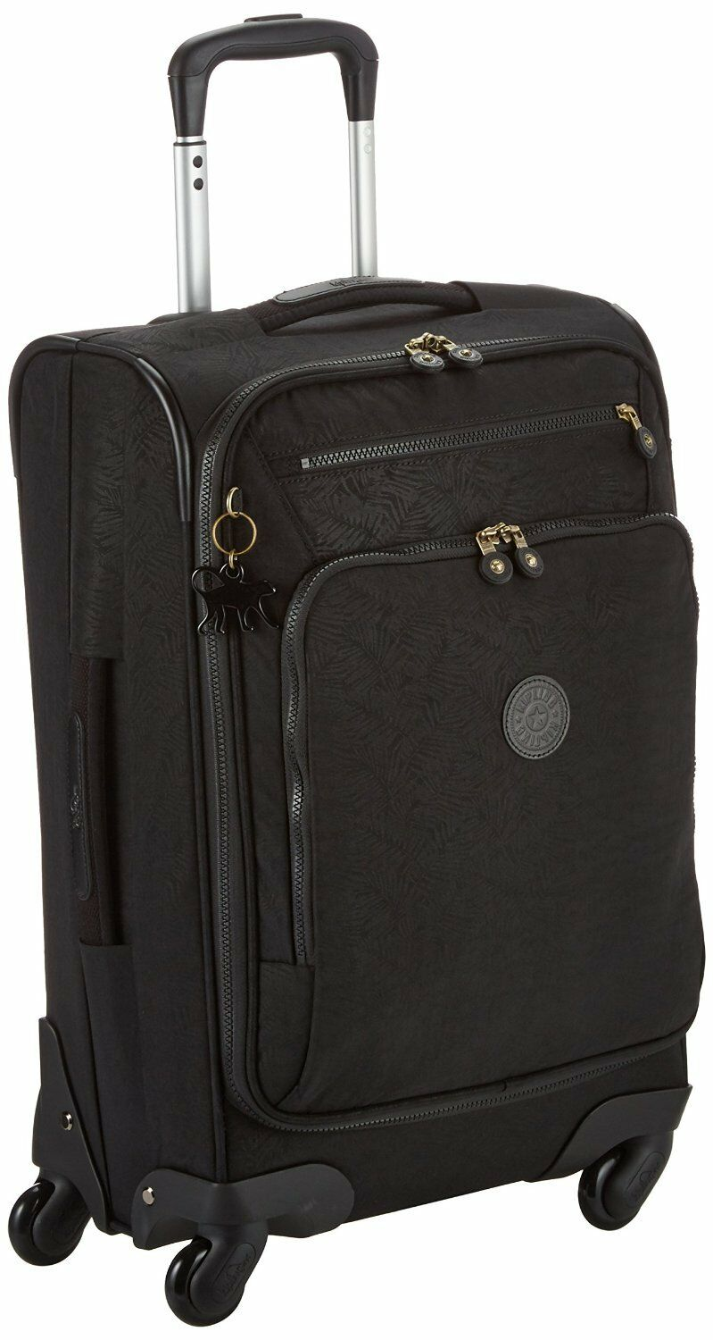 Kipling youri spin 55 spinner trolley  feuilles schwarzes  rrp   bagages cabine