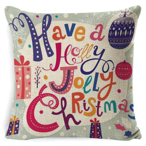 "18/"" Cushion Case Christmas Snowman Pillowcase Sofa Bed Home Pillow Cover Gift"