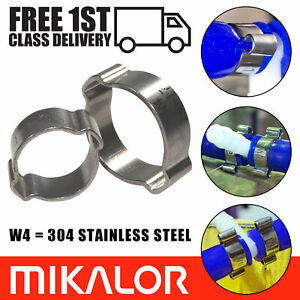 4 x Mikalor Stainless Steel Coolant//Exhaust Clamps//Clips Supra 73mm 79mm