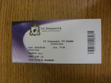 29/03/2010 Ticket: FC Timisoara v FC Vaslui (folded). Any faults with this item