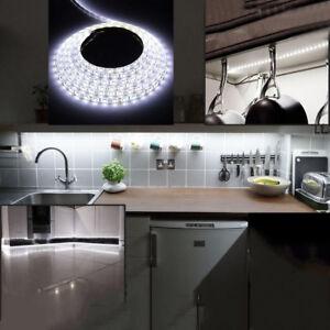Details About 5m 10m 20m 30m Dc12v 5050 Led Strip Light Kitchen Under Cabinet Cupboard Counter