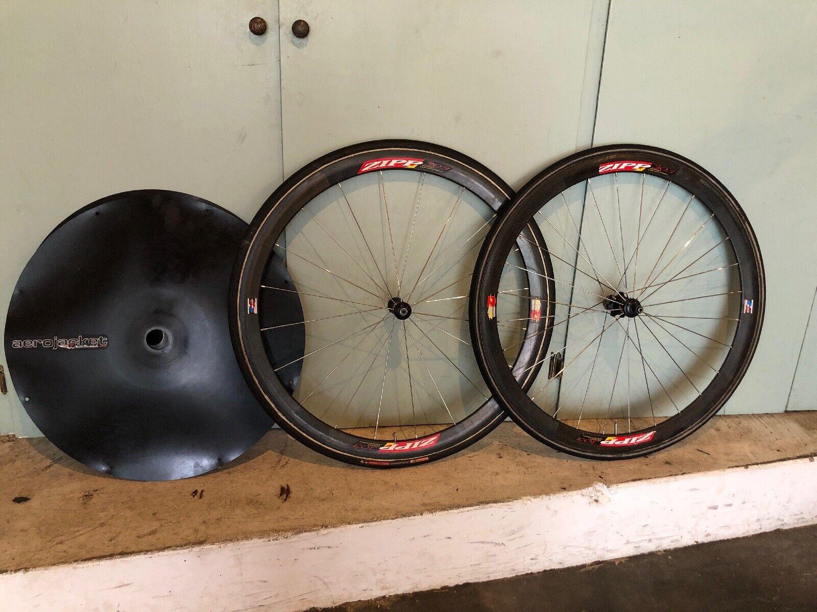 Zipp 303 Tubular Wheel Set, 9 10 Speed, 700c, Tires