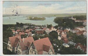 Ansichtskarte Eutin - Panorama/Ortsansicht/Ortspanorama mit Häusern - 1912