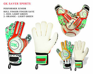Goalkeeper Gloves Kids Adults Football League Youth Roll Fingersave