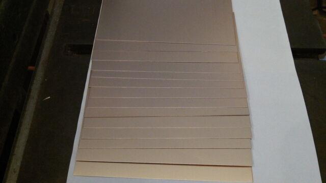 "10 pcs. FR-4, .017,  8"" x 12""  1 oz. Double sided. Copper Clad Circuit Board PCB"