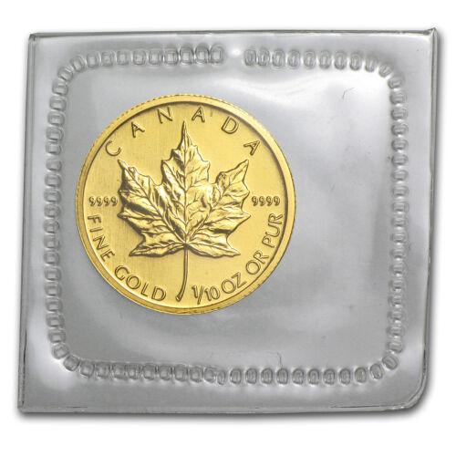 2009 Canada 1//10 oz Gold Maple Leaf BU SKU #46350