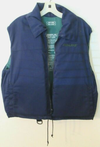 Stearns Navy Blue Life Vest Type III PDF Pre-Owned Adult Large Cond. Exc