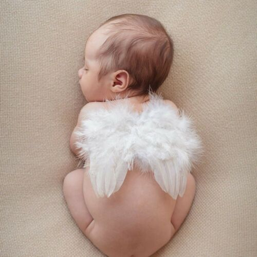 Newborn Baby Girl Boy Angel Wings Leaf Photo Photography Props Decors White