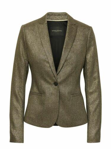 New metallizzato 0p Republic Blazer vestibilità Banana classica 2p dalla 00p Taglia PUPWranAH