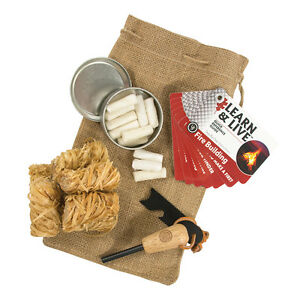 Fire-starting Kit /& Instructions UST Brands Heritage Campfire Kit