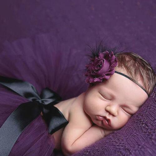 Baby Newborn Girls Tutu Skirt Headband Costume Photo Photography Props Outfits