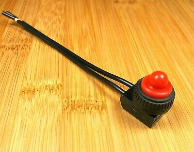 4 Red BBT Small Marine Grade 12 Volt On//Off Push Button Switches