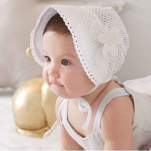 Cute Toddlers Baby Girls Flower Princess Sun Hat Cap Summer Cotton Hat Bonnet US