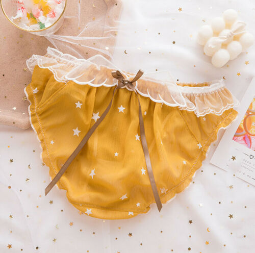 Details about  /Japanese Girls Sweet Lace Chiffon Low Waist Panties Intimates Underpants Briefs