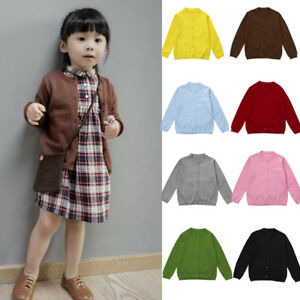 Toddler-Kid-Baby-Boy-Girl-Knitted-Sweater-Cardigan-Coat-Long-Sleeve-Outwear-T