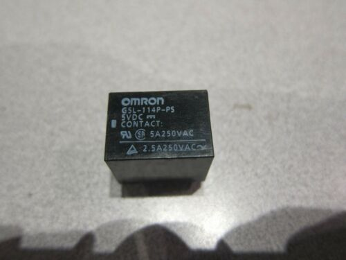 LOT OF 5 OMRON G5L-114P-PS 5VDC