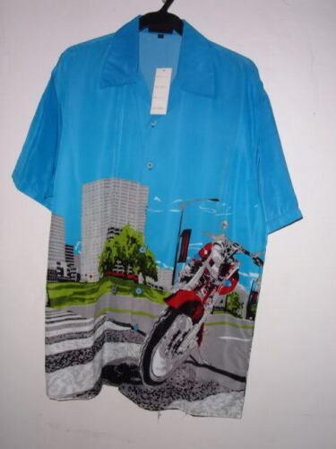 NWT RED DIRT MOTORCYCLE HAWAIIAN SHIRT pic sz M XL or XXL