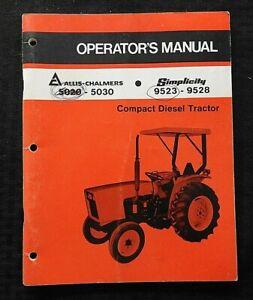 1977-85 ALLIS CHALMERS 5020 5030 SIMPLICITY 9523 9528 TRACTOR OPERATORS MANUAL