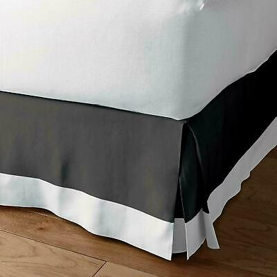 ,Two Tone 100/% Cotton-Bed skirt Extra Drop-Hotel Collection White -Burgundy