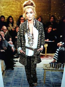 Chanel-11A-NEW-Paris-Byzance-TWEED-GOLD-MULTICOLOR-GRIPOIX-Buttons-Pants-FR36-4K